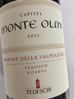 Capitel Monte Olmi, Amarone della Valpolicella , Classico Riserva DOCG 2011