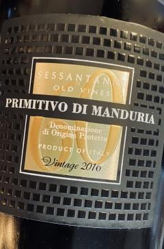 San Marzano, Sessantanni 60 anni, Primitivo di Manduria 2016