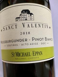 St. Michael Eppan, Weissburgunder Sanct Valentin 2018