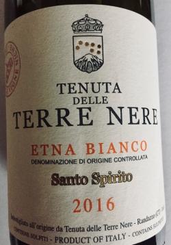 Tenuta delle Terre Nere, Santo Spirito, Etna Bianco DOC 2016 (BIO)