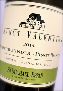 St. Michael Eppan, Weissburgunder Sanct Valentin 2014