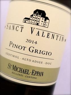 St. Michael Eppan, Pinot Grigio Sanct Valentin 2014