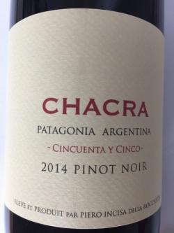Bodega Chacra, Cincuenta y Cinco, Pinot Noir 2014