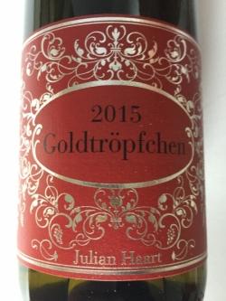 Julian Haart, Piesporter Goldtröpfchen, Grand Cru 2015