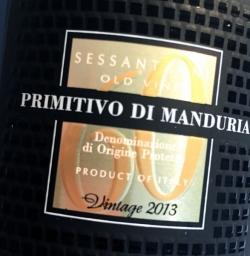 San Marzano, Sessantanni 60 anni, Primitivo di Manduria 2013