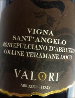 Valori, Montepulciano d`Abruzzo Vigna San Angelo 2010