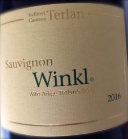 Kellerei Terlan, Sauvignon Winkl 2016