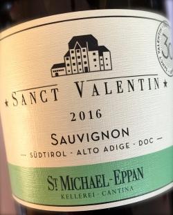 St. Michael Eppan, Sauvignon Sanct Valentin 2016