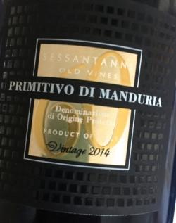 San Marzano, Sessantanni 60 anni, Primitivo di Manduria 2014