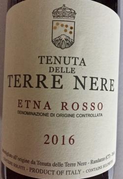 Tenuta delle Terre Nere, Etna Rosso DOC 2016 (BIO)