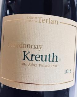 Kellerei Terlan, Chardonnay Kreuth 2016