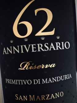 San Marzano, Anniversario 62 Riserva 2015