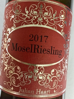 Julian Haart, Mosel Riesling 2017
