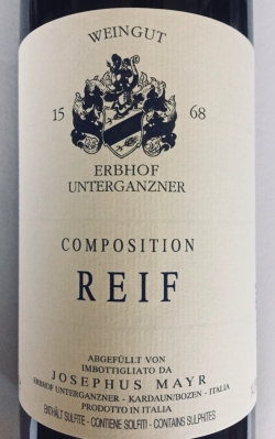 Josephus Mayr Erbhof Unterganzner, Composition Reif 2016