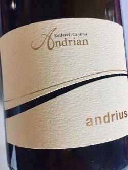 Kellerei Andrian, Sauvignon Andrius 2017