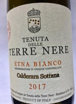 Tenuta dlle Terre Nere, Calderara Etna Bianco DOC 2017 (BIO)