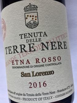 Tenuta delle Terre Nere, San Lorenzo, Etna Rosso DOC 2016