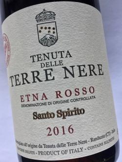 Tenuta delle Tere Nere, Santo Spirito, Etna Rosso DOC 2016