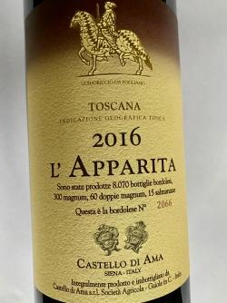 Castello di Ama, Vigna L`Apparita Merlot Toscana IGT 2016
