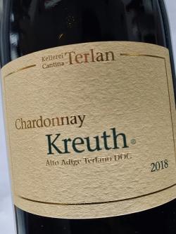 Kellerei Terlan, Chardonnay Kreuth 2018