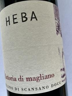 Fattoria di Magliano, Morellino di Sacansano, Heba 18 (BIO)