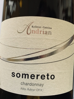 Kellerei Andrian, Chardonnay Somereto 2020