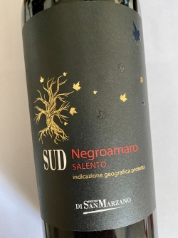 San Marzano, SUD Negroamaro Salento 2019